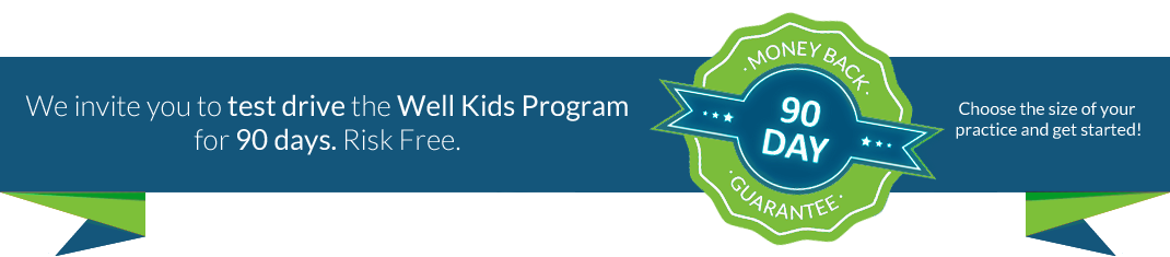We Invite You to Test Drive the Well Kids Program for 90days. Risk Free